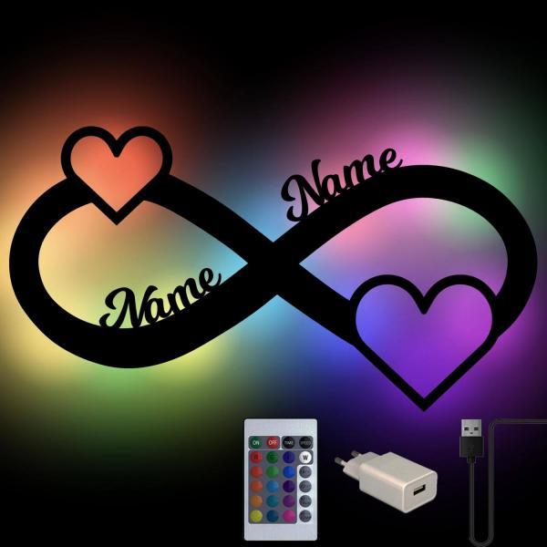 Farbwechsel Lampe Infinity Unendlichzeichen