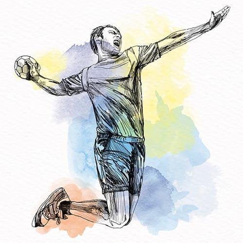 Geschenk Handball