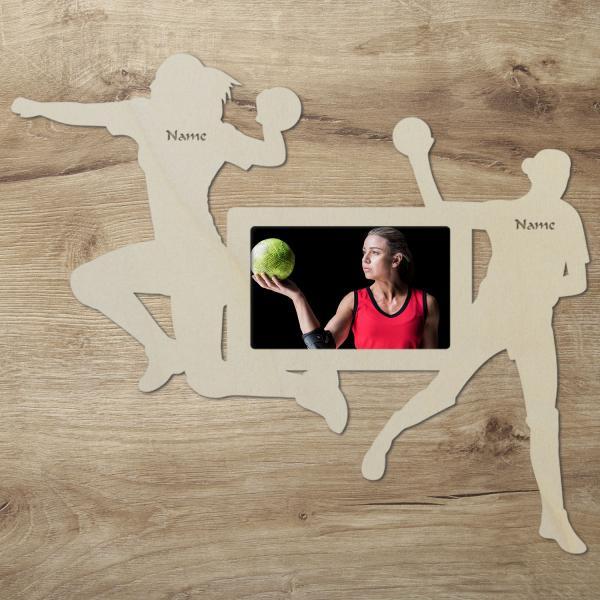 Handball Frauen Bilderrahmen
