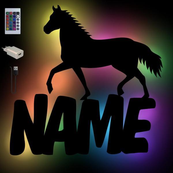 Mädchen Pferde Wand Lampe