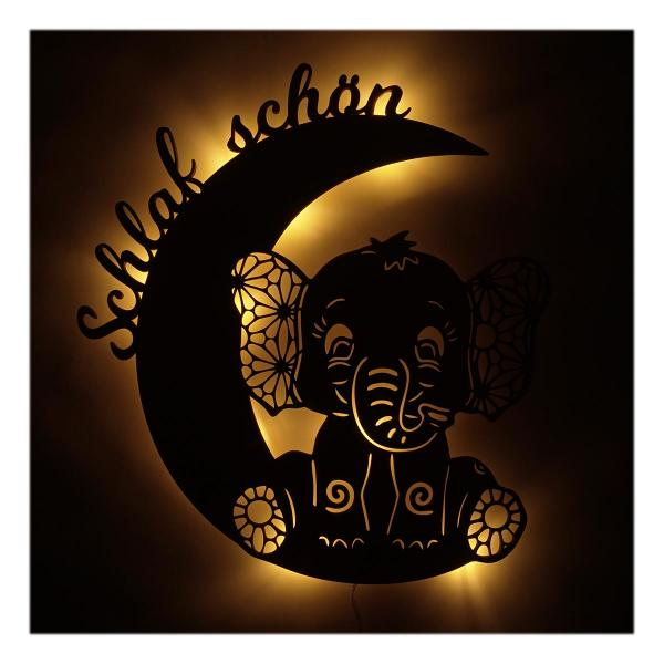 warmes nachtlicht baby wandlampe elefant