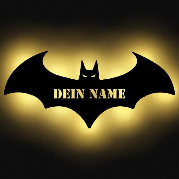 Batman Fledermaus Fanartikel Geschenk Lampe