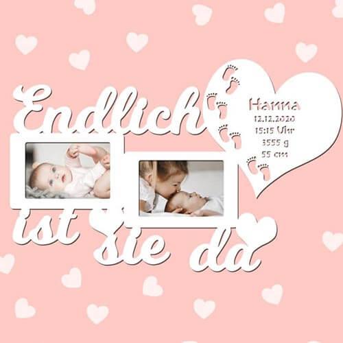 Geburt Bilderrahmen für Mädchen