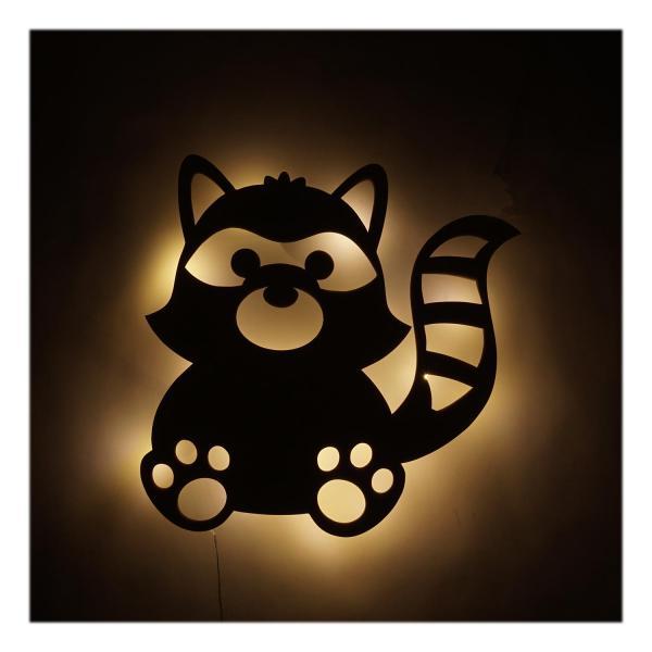 Geschenke Kinder Waschbär Lampe Nachtlicht