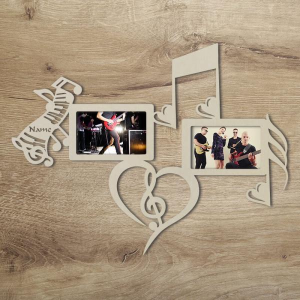 Musik Bilderrahmen Geschenk Unbehandelt