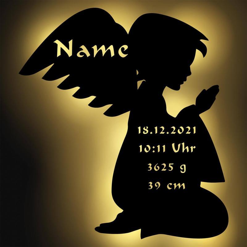 - Schutzengel Junge mit Personalisierung - Onlineshop Schlummerlicht24