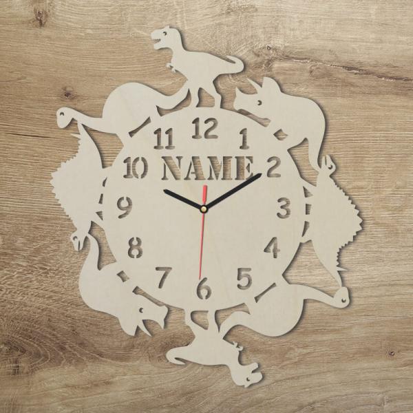 Dino Kinderzimmer Uhr