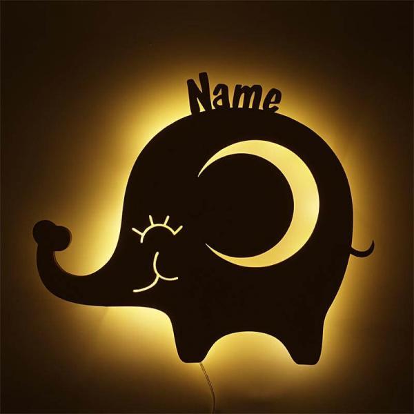Nachtlicht Elefant