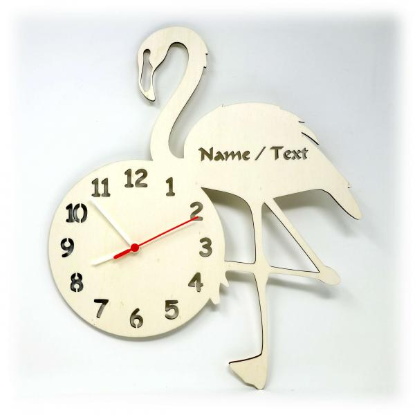 Flamingo Geschenke Uhr