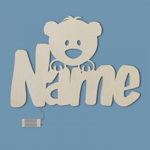 Personalisiertes Geschenk Baby Nachtlicht Bär