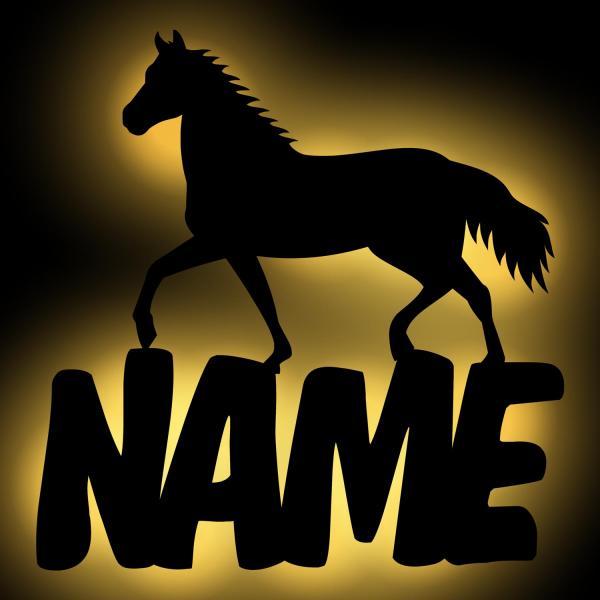 Pferde Wand Lampe mit Namen