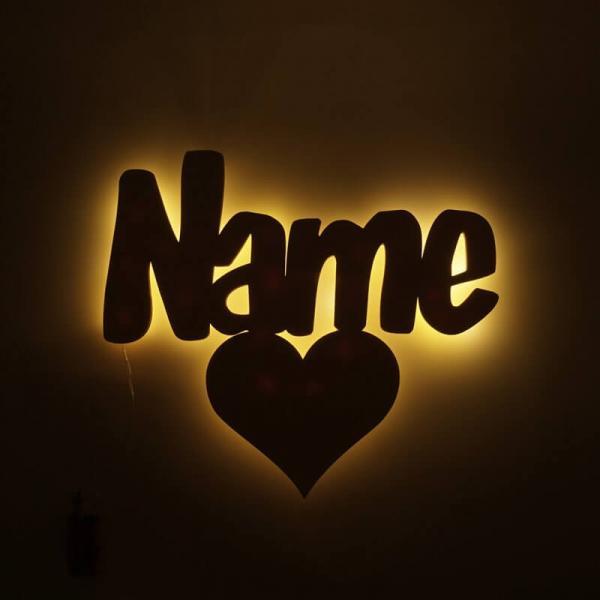 Dekolicht Herz mit Name