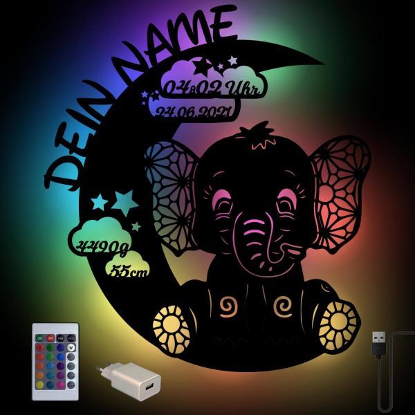 Elefant Farbwechsel Lampe mit Fernbedienung