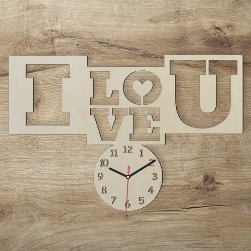 Love You Wanduhr