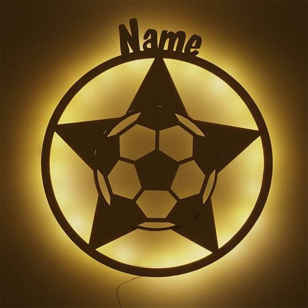 Fußball Lampe Stern
