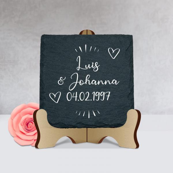 kleine Liebesgeschenke - Schiefertafel mit Namen