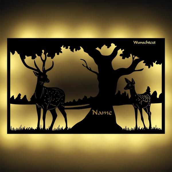 Wald Natur Deko Nachtlicht Wand Lampe personalisiert