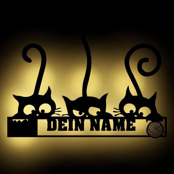 Drei Katzen Nachtlicht Wand Lampe