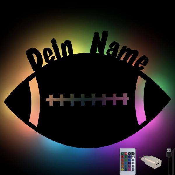 Football Deko Lampe mit Namen personalisiert