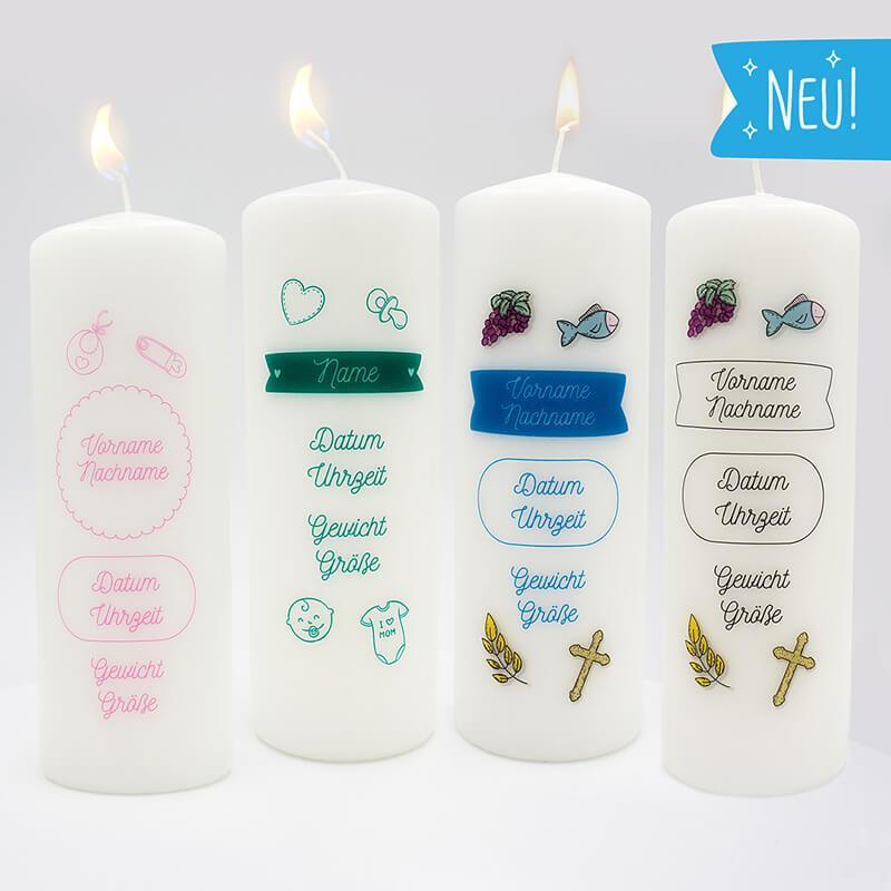 - Kerze Baby Personalisierung - Onlineshop Schlummerlicht24