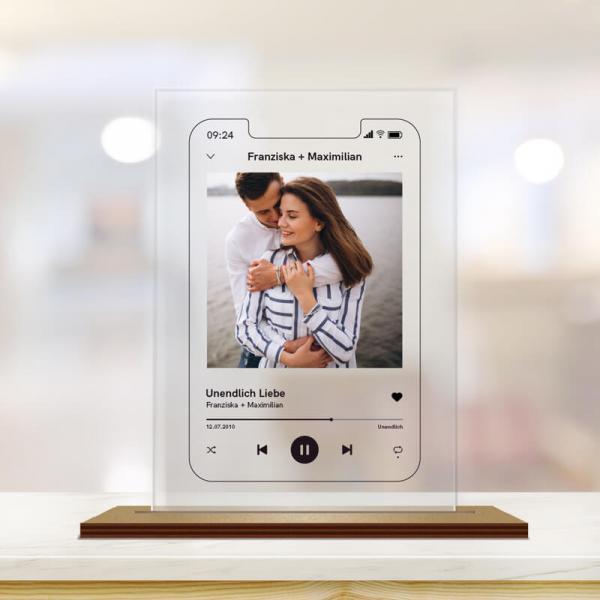 Music Player mit Foto und Text personalisiert