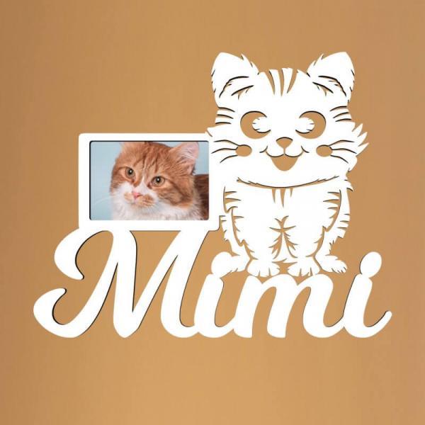 Geschenke Katze Katzen Bilderrahmen mit Namen