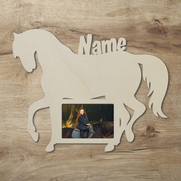 Geschenke für Kinder Pferdeliebhaber Bilderrahmen Pferd Pferde Deko Unbehandelt