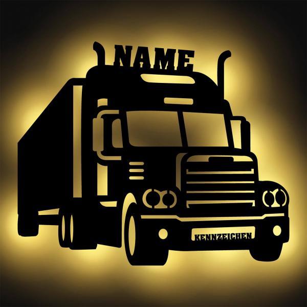 LKW Fahrer Deko LED Namensschild Geschenk