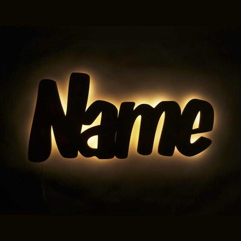 - Lampe mit Namen Namenslampe - Onlineshop Schlummerlicht24