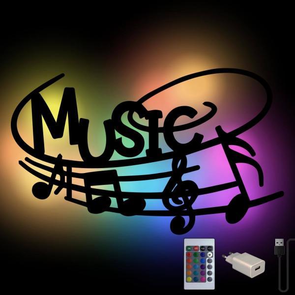 Musiknote Farbwechsel Wand Deko Lampe