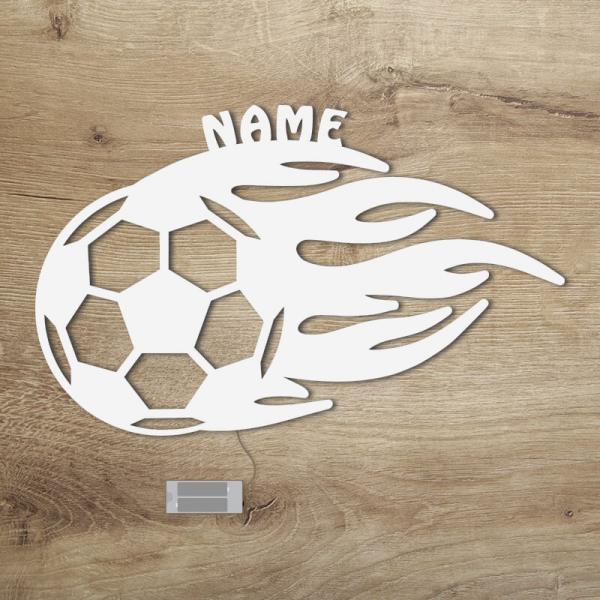 Geschenke für Fußballer Flammen Weiß