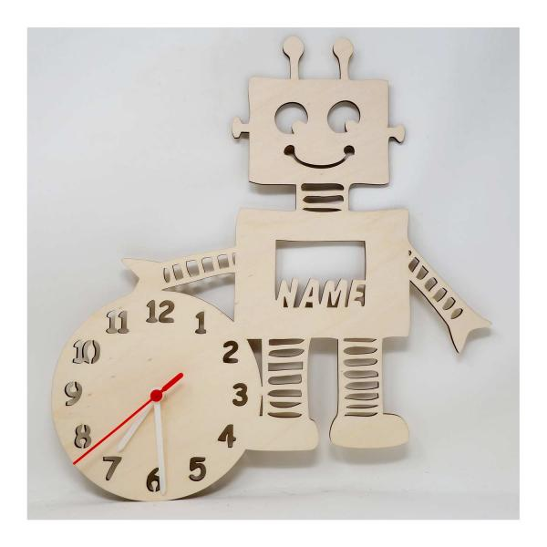 Roboter Wand Uhr Kinder