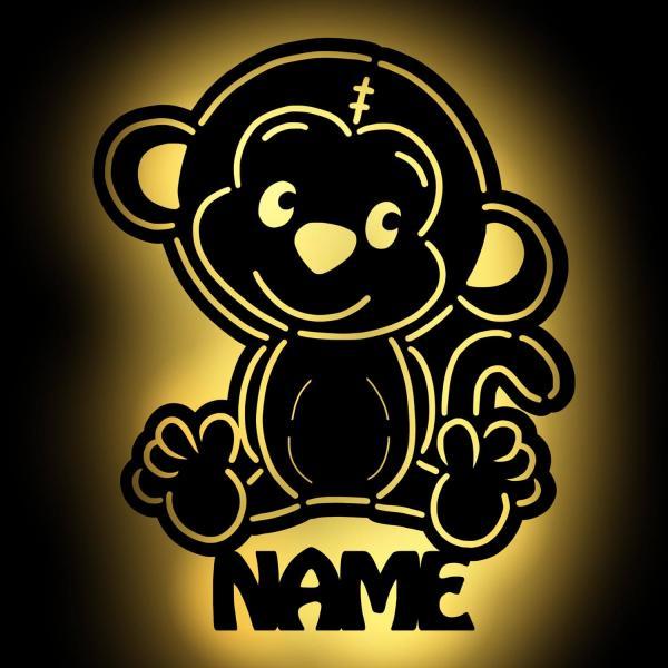 Affen Lampe Nachtlicht Affe personalisiert mit Namen für Kinder