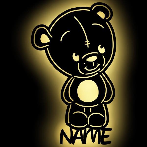 Teddybär Teddy Bär Wandlampe Nachtlicht Schlummerlicht personalisiert