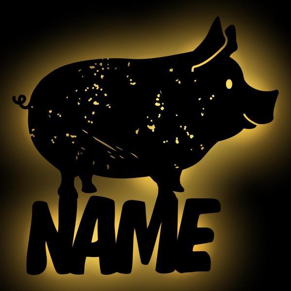 Schwein Deko Lampe Nachtlicht
