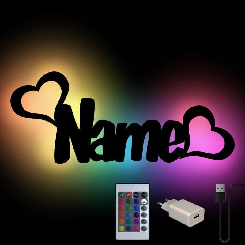 - Farbwechsel Herzen Wand Lampe Lampe personalisiert - Onlineshop Schlummerlicht24