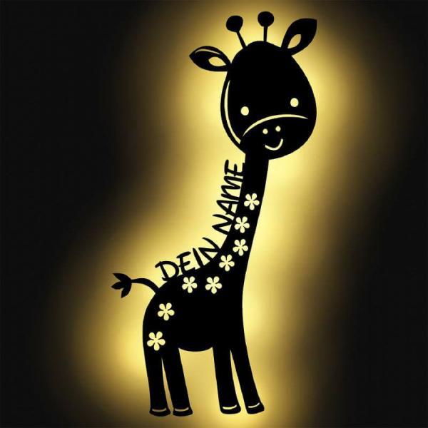 Giraffe Kinderzimmer Nachtlicht Lampe mit Namen