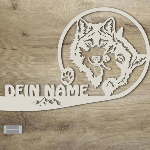 Wolf Geschenkartikel Farbe Holz