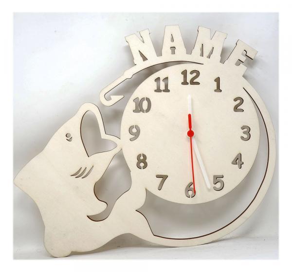 Uhr Angler Deko Fischen Geschenke