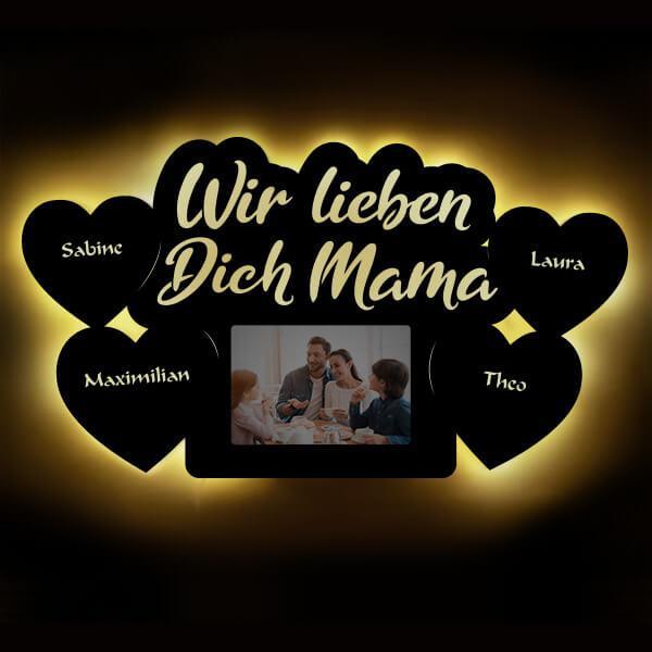 Mama LED Bilderrahmen