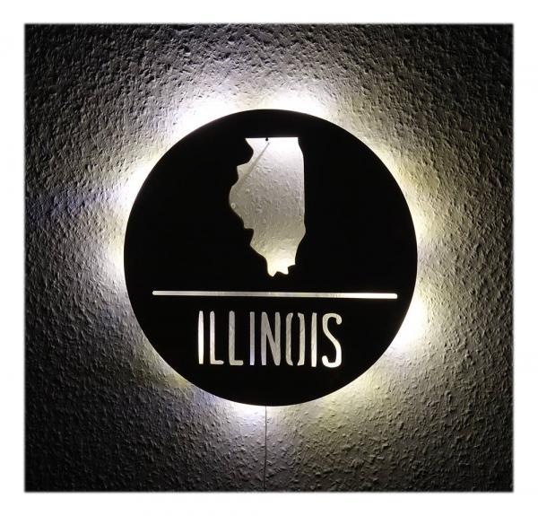 USA Deko Wohnzimmer Illinois