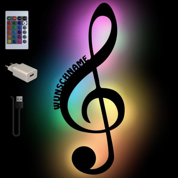 Bunte Musiknoten Deko Lampe für Musiker