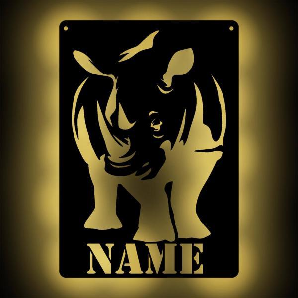 Nashorn Lampe