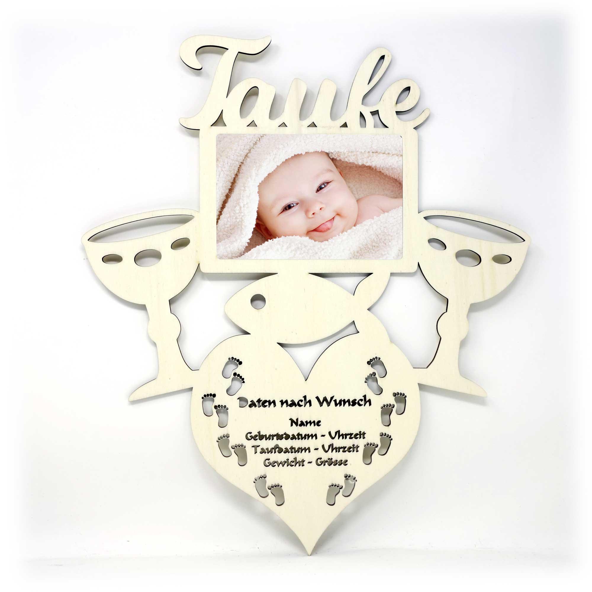 Taufkelch Baby Bilderrahmen Individuell Mit Namen Personalisiert