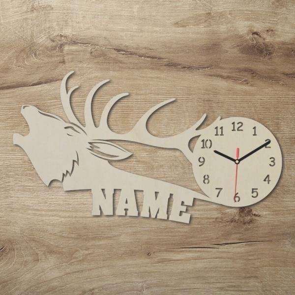 Elch Jäger Geschenke Uhr