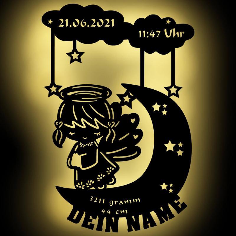 - Mond Engel personalisierbare Nachtlampe Nachtlicht - Onlineshop Schlummerlicht24