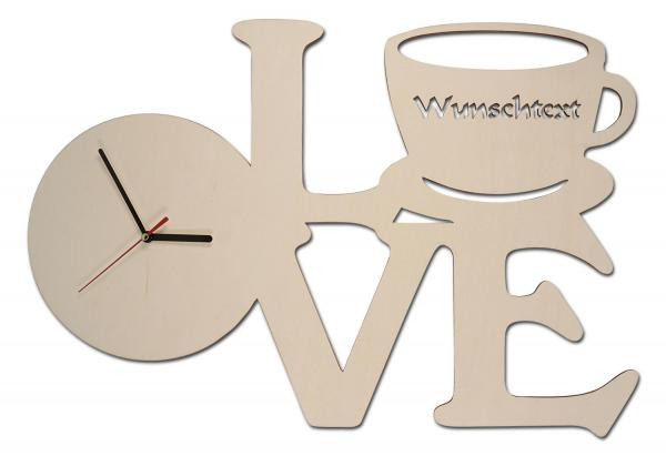 Kaffee Love Uhr
