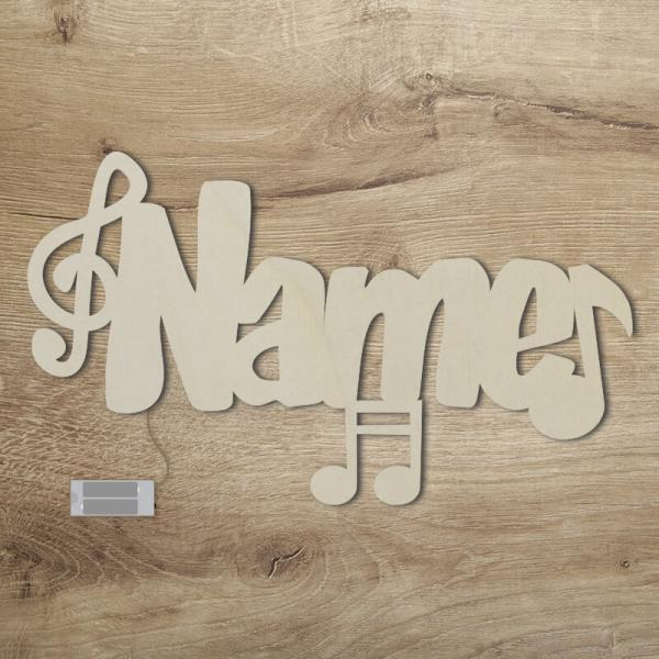 Geschenkidee für Musiker Musiknoten Unbehandelt
