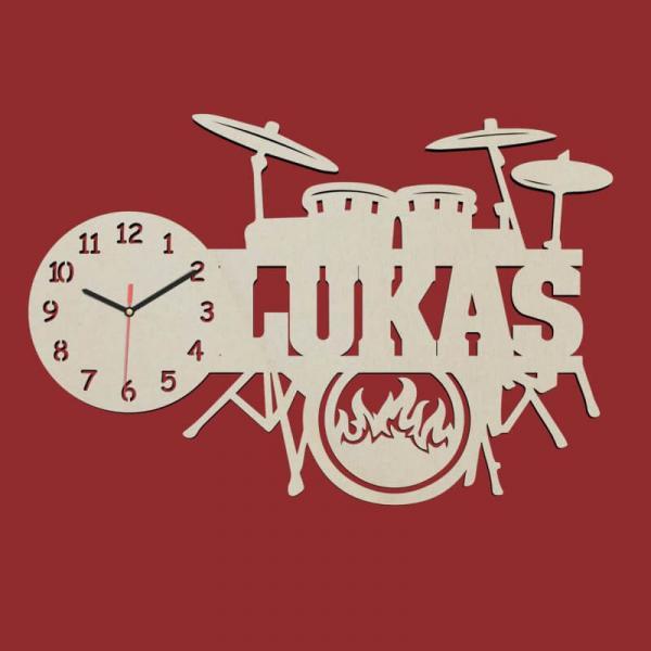 Schlagzeug Drums Wanduhr