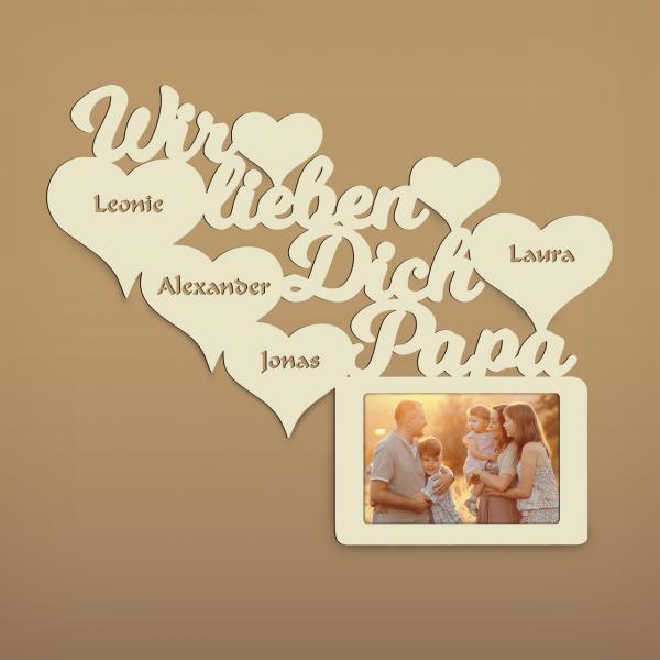 Wir lieben dich Papa